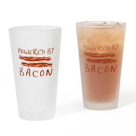 Powered By Bacon Pint Glass