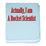Rocket Scientist baby blanket