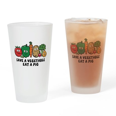 Save a Vegetable Pint Glass