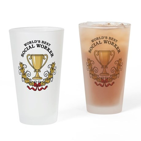 World's Best Social Worker Pint Glass