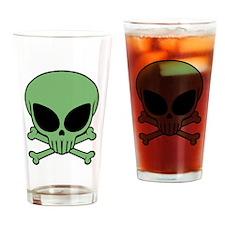 Alien Skull Pint Glass