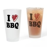 I [heart] BBQ Pint Glass