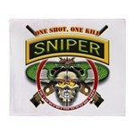 Sniper One Shot-One Kill Throw Blanket