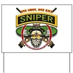 Sniper One Shot-One Kill Yard Sign