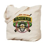 Sniper One Shot-One Kill Tote Bag