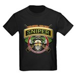 Sniper One Shot-One Kill Kids Dark T-Shirt