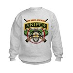 Sniper One Shot-One Kill Kids Sweatshirt