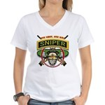 Sniper One Shot-One Kill Women's V-Neck T-Shirt