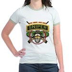 Sniper One Shot-One Kill Jr. Ringer T-Shirt