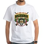 Sniper One Shot-One Kill White T-Shirt