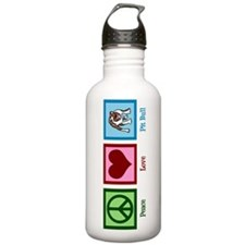 Peace Love Pit Bull Water Bottle