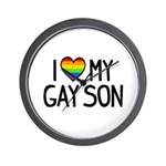 Love Gay Son Wall Clock
