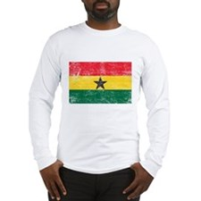 Ghana Flag Long Sleeve T-Shirt