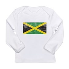 Jamaica Flag Long Sleeve Infant T-Shirt