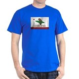 California Surfing Bear Flag T-Shirt