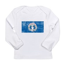 Northern Marianas Flag Long Sleeve Infant T-Shirt
