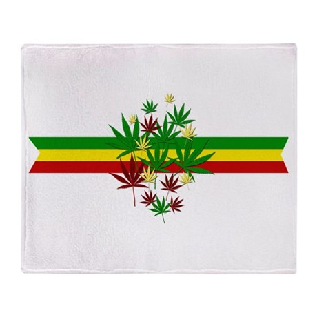 Rastafarian Motif Throw Blanket