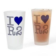 I Heart R2 Pint Glass