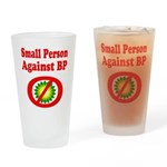 Small People against BP Pint Glass