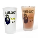 Abstinence: 99.99% Effective Pint Glass