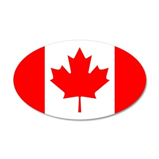 Canadian Flag 22x14 Oval Wall Peel