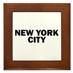 NEW YORK CITY V Framed Tile