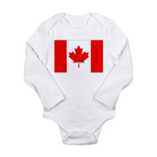Canadian Flag Long Sleeve Infant Bodysuit