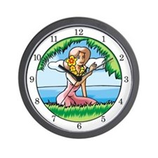 <b>SERIES G:</b> Island Girl Wall Clock