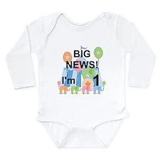 1st Circus Birthday Long Sleeve Infant Bodysuit