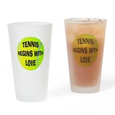 Tennis Begins With Love Pint Glass