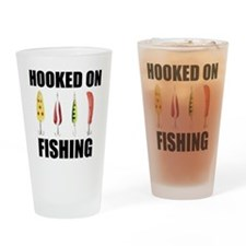 Hooked on Fishing Pint Glass