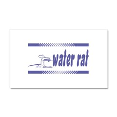 Water Rat Waterskiing Car Magnet 12 x 20
