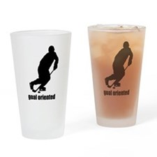 Goal Oriented Hockey Drinking Glass