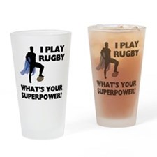 Rugby Superhero Pint Glass