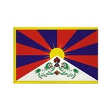 Tibetan Snow Lion Flag Rectangle Magnet (100 pack)