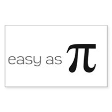Easy as Pie (Pi) Bumper Stickers