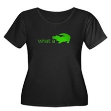 What a Croc Women's Plus Size Scoop Neck Dark T-Sh