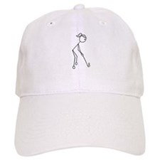 Golf Girl Black No Words Baseball Cap