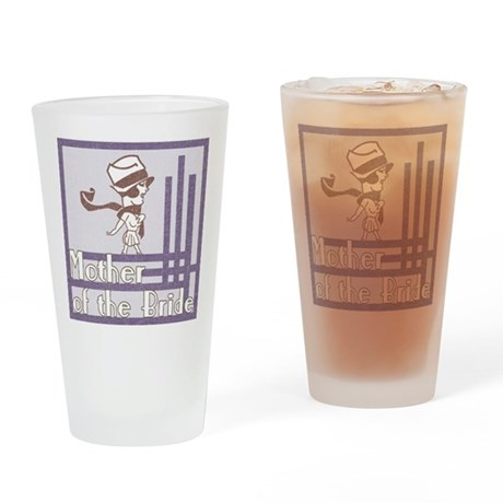 Deco Mother of the Bride Pint Glass