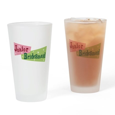 Retro Junior Bridesmaid Pint Glass