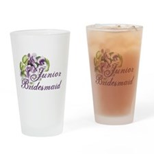 Floral Junior Bridesmaid Pint Glass