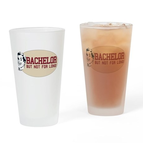 Hip Retro Vintage Bachelor Pint Glass