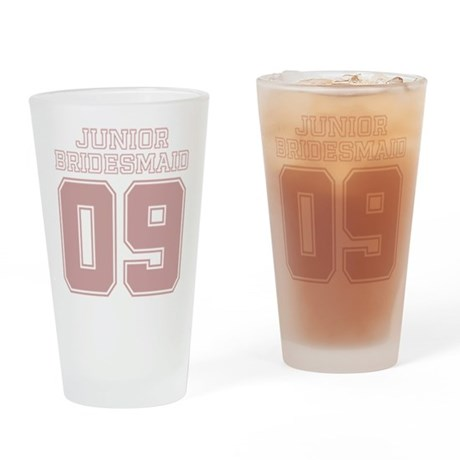 Pink Junior Bridesmaid 09 Pint Glass