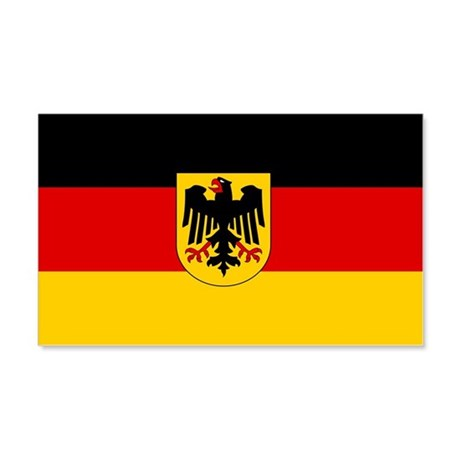 German Government Flag 22x14 Wall Peel