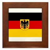 German Government Flag Framed Tile