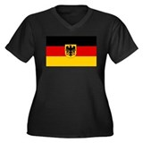 German Government Flag Women's Plus Size V-Neck Da