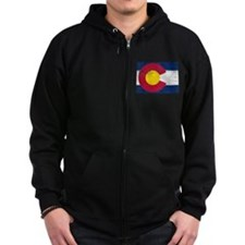 Colorado Flag Map Zip Hoodie
