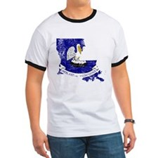 Louisiana Flag Map T