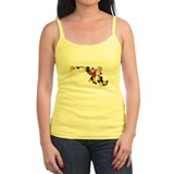 Maryland Flag Map Ladies Top