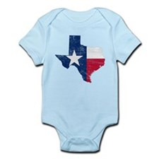 Texas Flag Map Infant Bodysuit